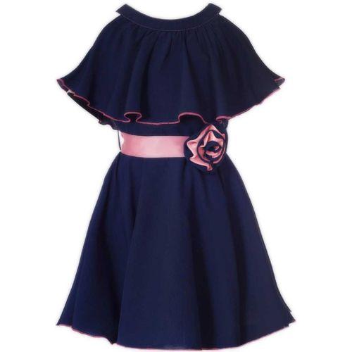 Fashion Dream Indi Girls Midi/Knee Length Casual Dress(Blue, Fashion Sleeve)