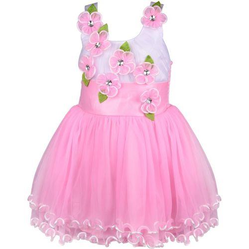 Wishkaro Girls Maxi/Full Length Casual Dress(Multicolor, Sleeveless)