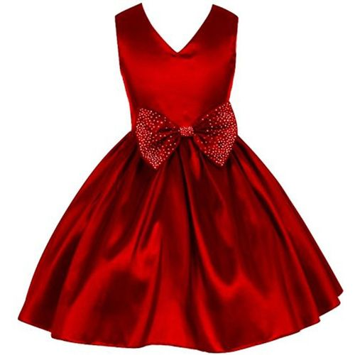 GOODY`S Girls Maxi/Full Length Party Dress(Red, Sleeveless)
