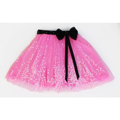 MVD Fashion Embellished Girls Gathered Pink Skirt