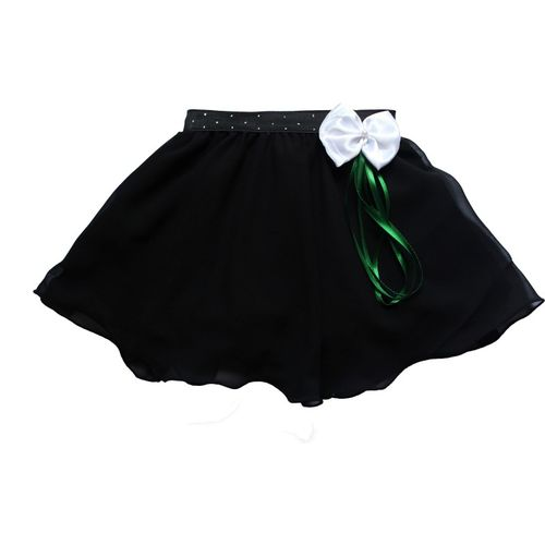 MVD Fashion Self Design Girls Gathered Black Skirt