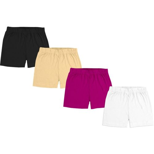 Fasla Short For Boy's & Girl's Casual Solid Pure Cotton(Multicolor, Pack of 4)