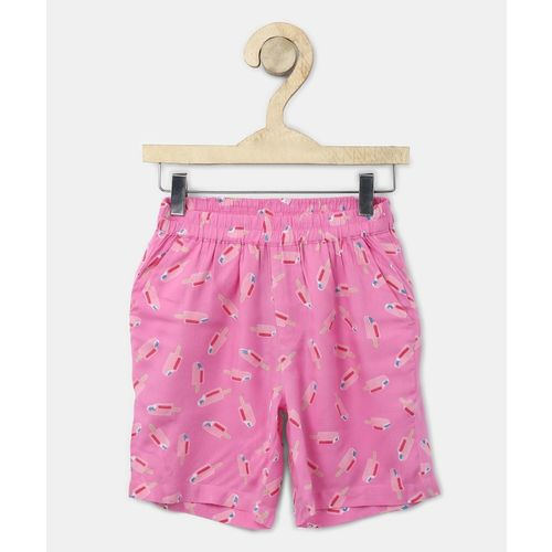 Miss & Chief Short For Girls Casual Printed Pure Cotton(Multicolor, Pack of 1)