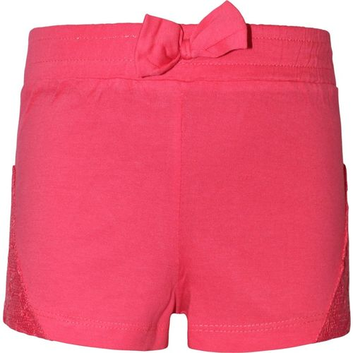 Kothari Short For Girls Casual Solid Cotton Blend(Pink, Pack of 1)