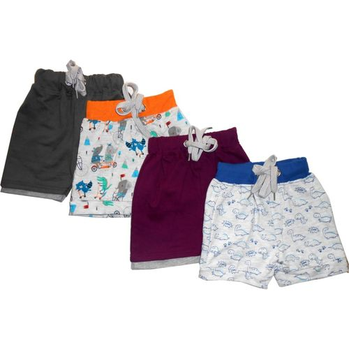 Tinchuk Short For Boys & Girls Casual Self Design Cotton Blend(Multicolor, Pack of 4)