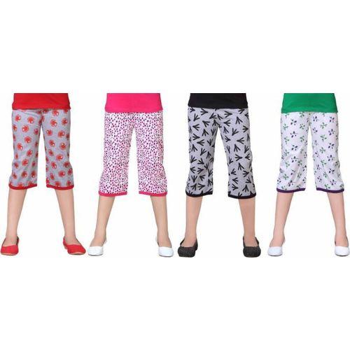 Sini Mini Capri For Girls Casual Printed Cotton Blend(Multicolor Pack of 1)