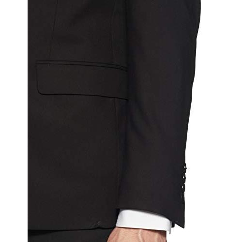 Van Heusen black polyester blend Notch Lapel Slim fit Blazer
