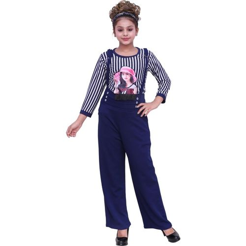 oriex Dungaree For Girls Casual Self Design Polycotton(Black, Pack of 1)