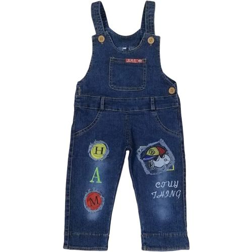 Icable Dungaree For Girls Casual Self Design Denim(Yellow, Pack of 1)