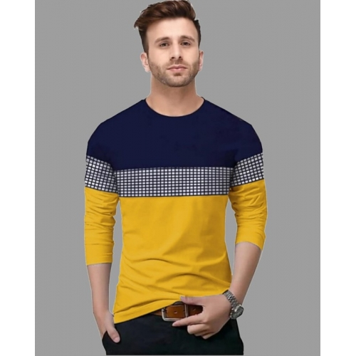 FastColors Multi Color Cotton Slim Fit Casual T- Shirts