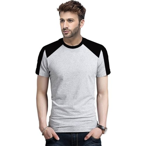 Tripr Color Block Men Round Neck Grey, Black T-Shirt