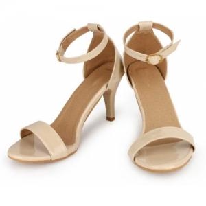 SHOFIEE Women Off White Kitten Heels Sandals