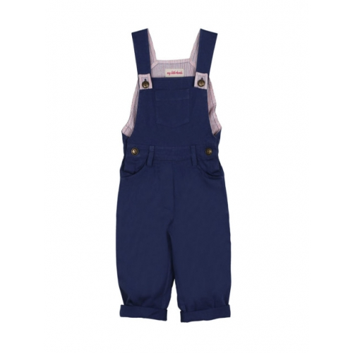 My Little Lambs Navy Dungarees