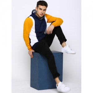 Maniac Multicolor Cotton Colourblocked Hooded Slim Fit T-shirt