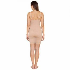 Zivame Smoothening Control Knee Length Bodysuit - Skin