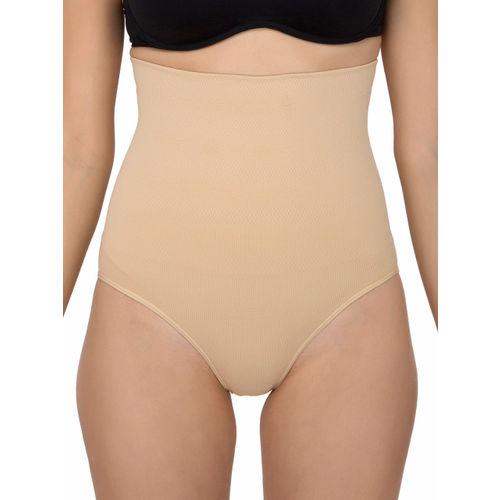 Laceandme Beige Women Tummy Control High Waist Shapewear 4167