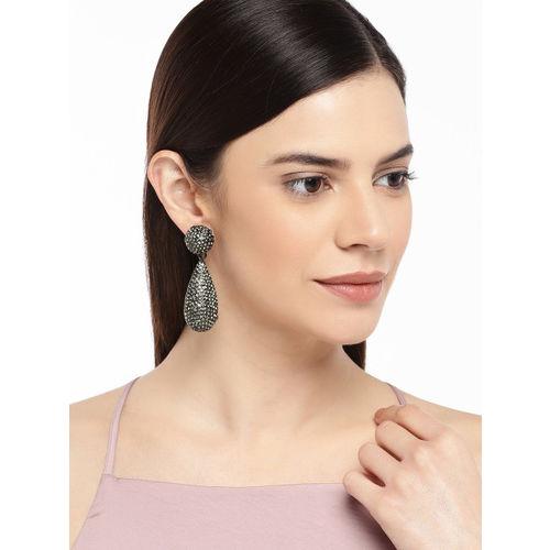Pipa Bella Black Teardrop Shaped Drop Earrings