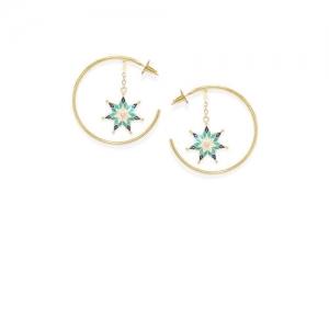 Pipa Bella Gold-Plated Circular Hoop Earrings