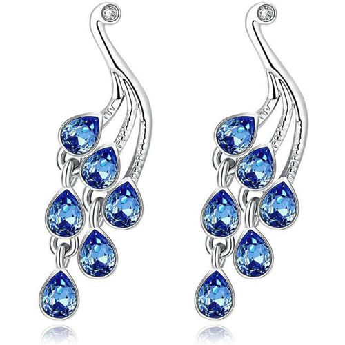 Sukkhi Cluster Crystal Alloy Drops & Danglers