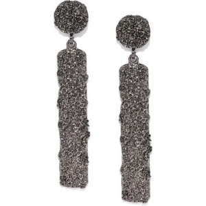 ToniQ ToniQ Silver-Toned Geometric Drop Earrings Alloy Drops & Danglers