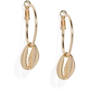 ToniQ ToniQ Gold-Toned Circular Hoop Earrings Alloy Hoop Earring