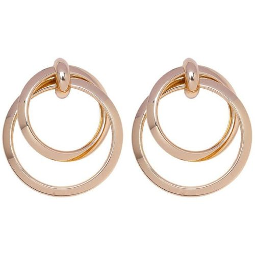OOMPH Gold Tone Round Loop Retro Vintage Style Large Statement Beads, Crystal Alloy, Zinc Drops & Danglers