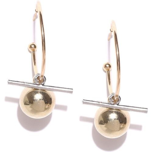 OOMPH Gold Tone Geometric Beads Alloy Drops & Danglers