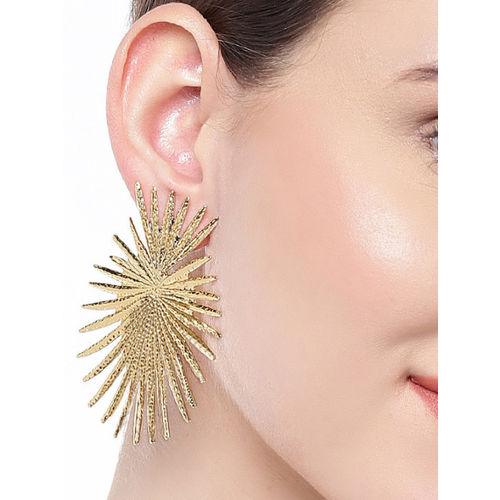 OOMPH Gold-Toned Contemporary Studs