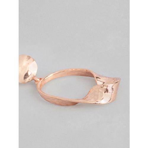 DressBerry Rose Gold-Toned Geometric Drop Earrings
