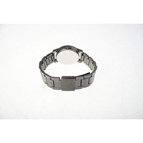 Bonjour Analogue Multicolour Dial Metal Black Strap Diamond Cut Glass Women's Watch