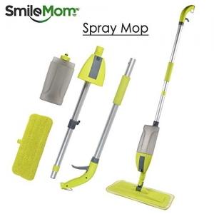 Smile mom 4 in 1 Aluminium Multi Spray Mop with Broom and Dustpan