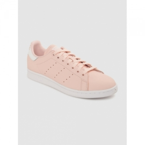 ADIDAS Originals Pink Solid Stan Smith Leather Sneakers