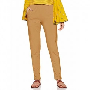 LUX LYRA Beige Cotton Solid  Pants