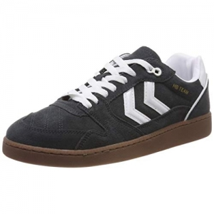 hummel black rubber Unisex's Hb Team Sneakers