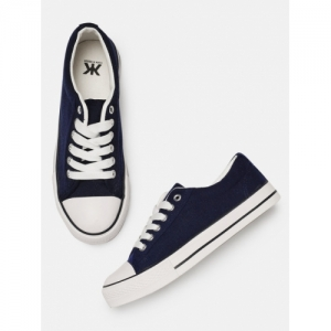 Kook N Keech Navy Blue rubber solid Sneakers