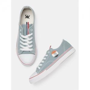 Kook N Keech grey canvas Sneakers