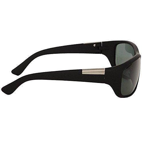 Trendmi Black Frame Green Lens Unisex Wrap Around Sunglasses