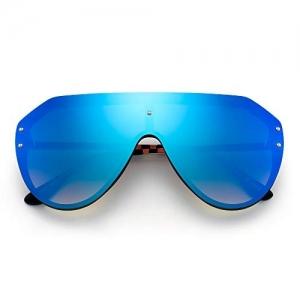 JIM HALO Oversized Shield Sunglasses