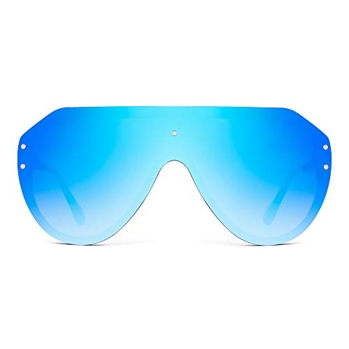 JIM HALO Oversized Shield Sunglasses