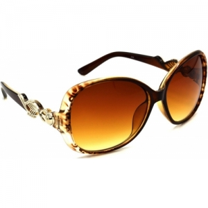 Hrinkar brown Over-sized Sunglasses