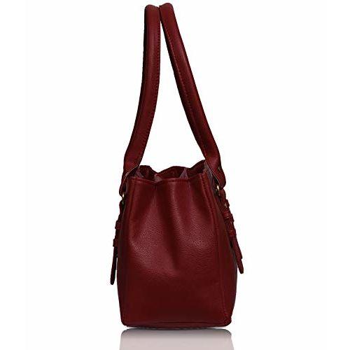 Fristo Women Red Leather Shoulder Bag