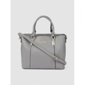 Mast & Harbour Grey Solid Handheld Bag