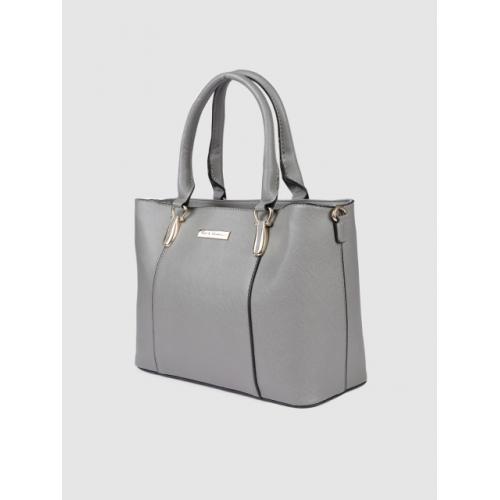 Mast & Harbour Grey Solid Handheld Bag