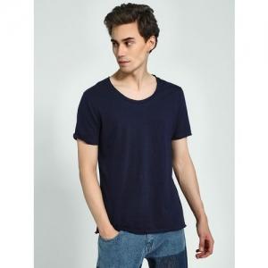 KOOVS Scoop Neck Short Sleeve T-Shirt