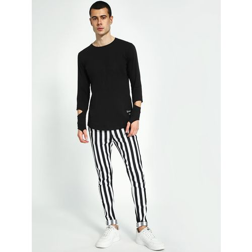 Kultprit Monochrome Vertical Stripe Skinny Jeans