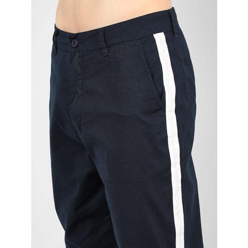 Spring Break Contrast Side Tape Cropped Slim Trousers