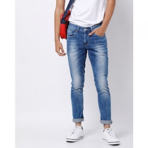 SPYKAR Medium Stone-Washed Skinny Jeans with Whiskers