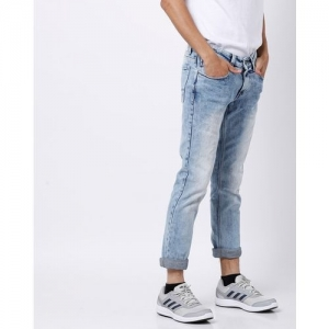 SPYKAR Washed Skinny Fit Jeans with Whiskers