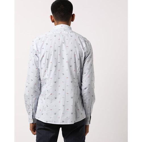 Celio Navire Printed Slim Fit Shirt