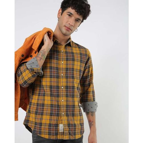 LEVIS Printed & Checked Slim Fit Reversible Shirt